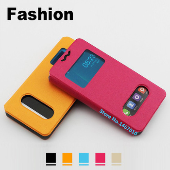 Highscreen zera f kapak highscreen zera f case evrensel için 4.0 inç pu case pencere highscreen zera f telefon case
