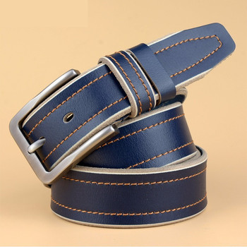 YIFEI Casual Patchwork Men Belts Designers Luxury Men Fashion Belt Trends Trousers QUALITY Cow Genuine Luxury Leather Men Belts